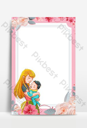 عظيم الشكر قالب خلفية عيد الأم سعيد خلفيات قالب PSD