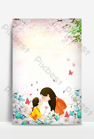 جميلة الشكر عيد الأم خلفية الصورة خلفيات قالب PSD