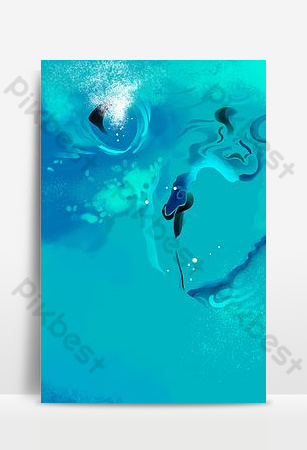 Blue sea water background download Backgrounds Template PSD