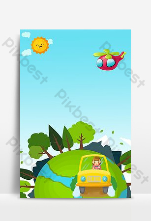 61 June 1 Children's Day to celebrate the opening season of June 1 Happy Promotion Backgrounds Template PSD