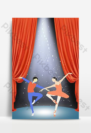 芭蕾舞蹈招生公告 背景 模板 PSD