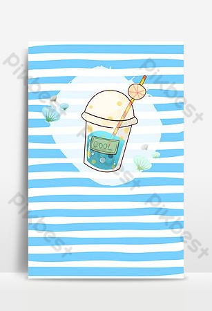خطوط زرقاء شقة خلفية الإعلان المشروبات الصيفية خلفيات قالب PSD