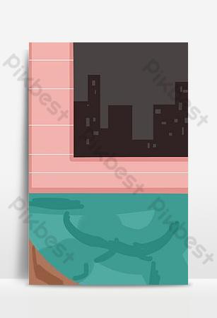 мультфильм модная мебель бесплатный рисунок Фон шаблон PSD