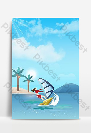 Sea sports background pictures Backgrounds Template PSD