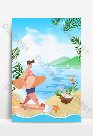 Summer sea sports background Backgrounds Template PSD