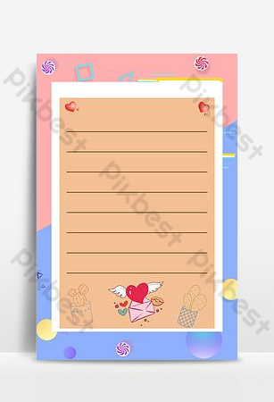 Qixi send you a love letter Backgrounds Template PSD