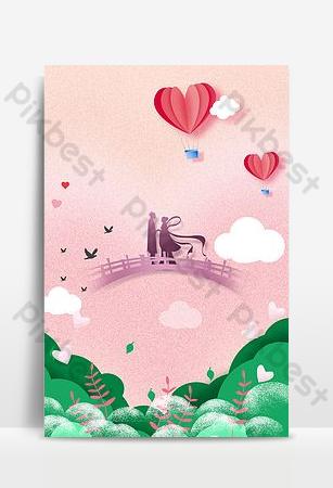 بسيطة نمط عيد الحب الصينية رعاة البقر ويفر فتاة العقعق جسر الاجتماع صورة الخلفية خلفيات قالب PSD