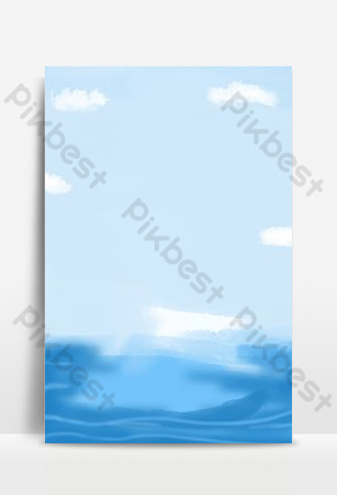 Beautiful fantasy blue sky white cloud sea background map Backgrounds Template PSD