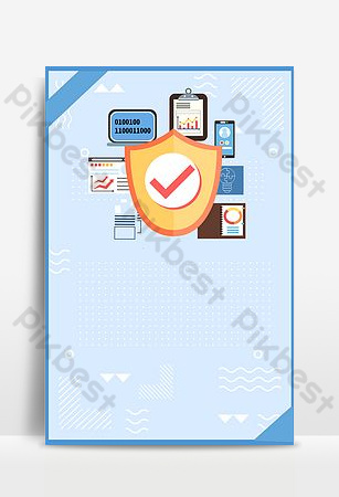 Information Network Security Promotion Backgrounds Template PSD