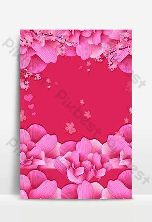 Belle fantaisie romantique fleur pétale fond carte Fond Modèle PSD