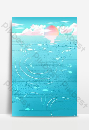 Sea level at sunset Backgrounds Template PSD