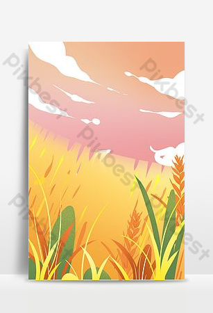 Color seasonal landscape background Backgrounds Template PSD