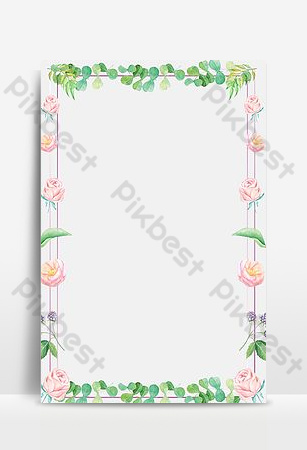 pequeña flor fresca frontera estilo simple Fondos Modelo PSD