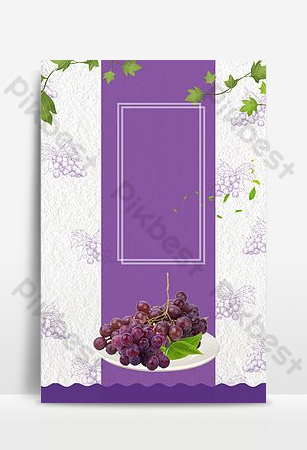 Summer simple seasonal fruit grape background Backgrounds Template PSD