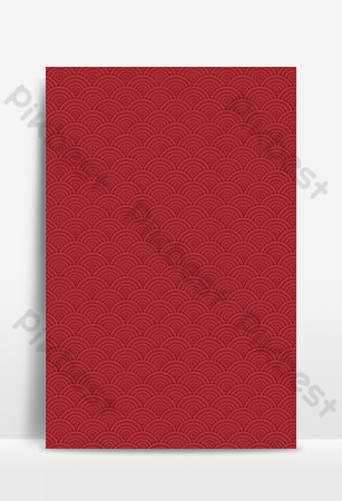 Simple red texture sea waves traditional classical background map Backgrounds Template PSD