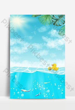 Cool summer background of ice at the seaside Backgrounds Template PSD