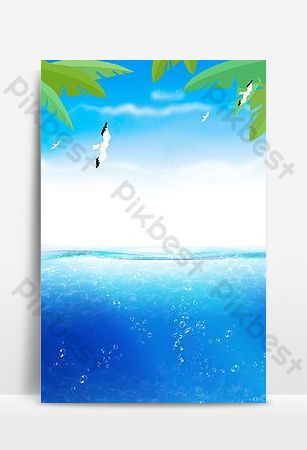 Fresh sea water cool summer seaside Backgrounds Template PSD