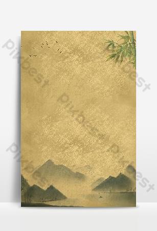中式紙紋理海報背景 背景 模板 PSD