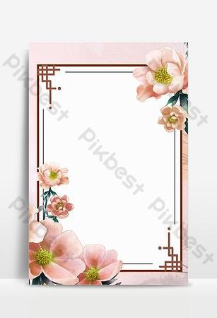 flores de fondo simple frontera Fondos Modelo PSD