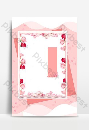 fondo de banner de borde rosa rectángulo de amor de tanabata Fondos Modelo PSD