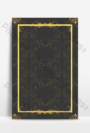 Simple european border golden pattern shading background Backgrounds Template PSD