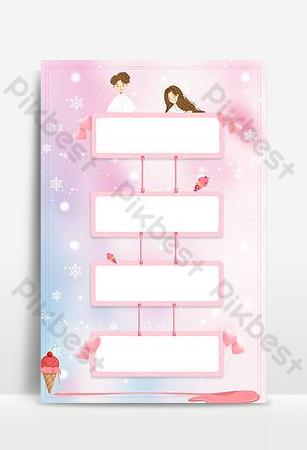 Tanabata ice cream promotion sea menu background Backgrounds Template PSD