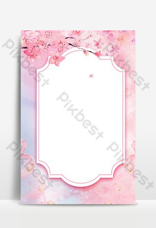 Peach blossom fresh sign sea background Backgrounds Template PSD