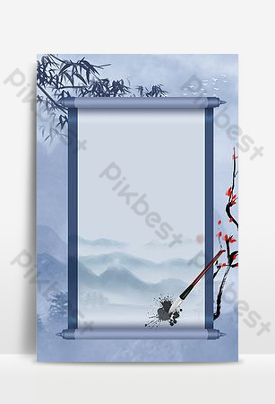 Chinese wind scroll creative background synthesis Backgrounds Template PSD