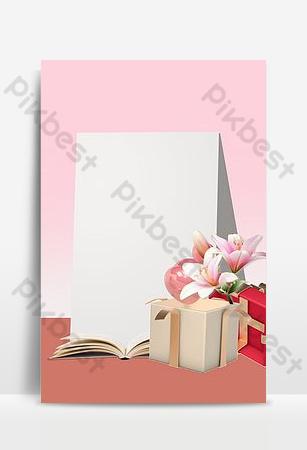 Affiche de fond de livre frais de carte de voeux de jour des enseignants simple Fond Modèle PSD