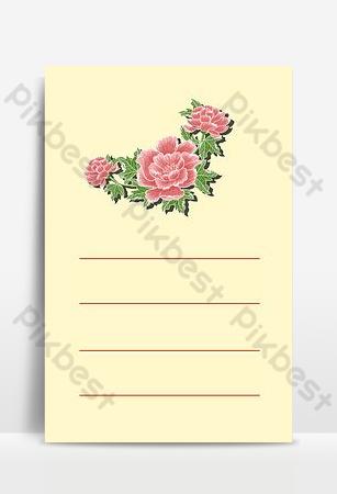 Carte pour enfants fond de papeterie motif floral texte mignon Fond Modèle AI