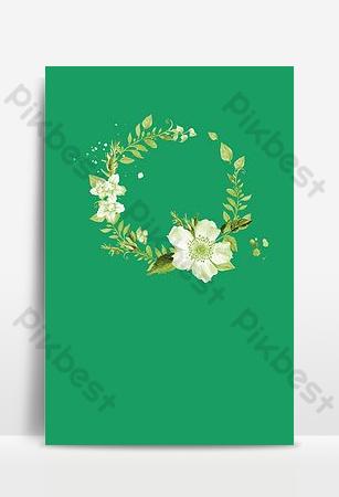 literatura y arte fresco floral simple y conciso hermoso pétalo h5 imagen de fondo Fondos Modelo PSD