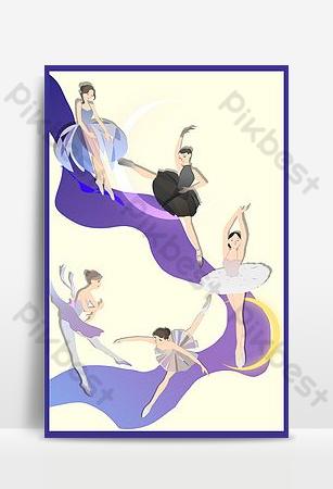 芭蕾舞海報背景 背景 模板 PSD