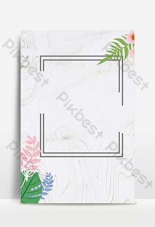 pequeño fondo floral simple verde fresco Fondos Modelo PSD