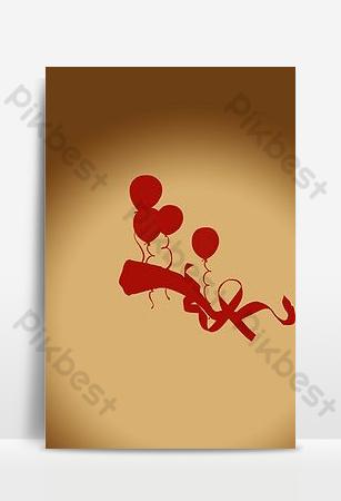 romántico día de san valentín corazón rojo en forma de halo blanco imagen de fondo h5 Fondos Modelo PSD