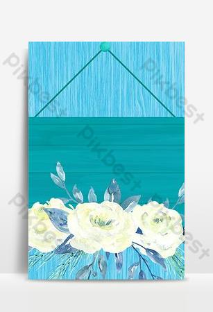 藍色清新木板紋理質感海報背景 背景 模板 PSD