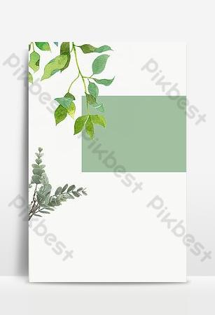 簡約文藝清新綠色植物春裝psd分層主圖背景 背景 模板 PSD