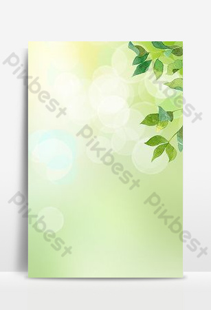 imagen principal de promoción de fondo de hoja verde fresca pequeña simple Fondos Modelo PSD
