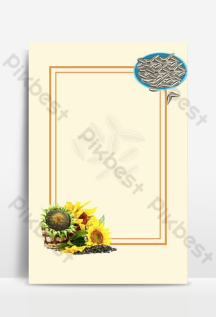 Simple sunflower melon seed poster psd layered background Backgrounds Template PSD