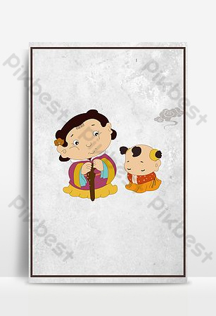 中國風古人校園文明禮儀宣傳海報背景圖片 背景 模板 PSD
