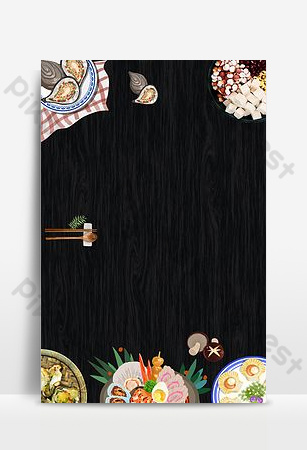 Grilled oyster food gourmet poster Backgrounds Template PSD