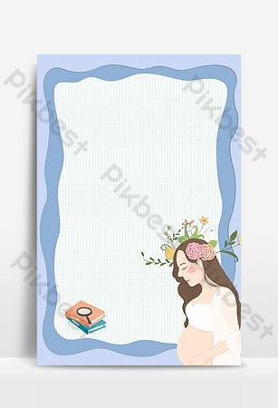 Pregnant women prenatal education training expectant mother knowledge counseling poster Backgrounds Template PSD