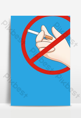 cálida plantilla de fondo de diseño de cartel de no fumar recordatorio Fondos Modelo PSD