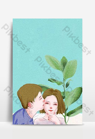 Campus graduation season literary little fresh girl blue hand painted background Backgrounds Template PSD