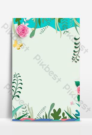 kelopak bunga hijau sederhana bunga tanaman merambat gambar latar belakang sederhana Latar belakang Templat PSD