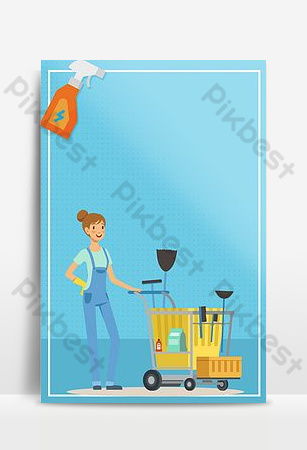 Quality housekeeping service elevator poster design Backgrounds Template PSD