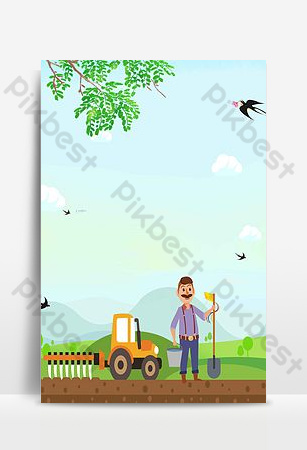 51勞動最光榮手繪插畫海報設計背景圖片 背景 模板 PSD