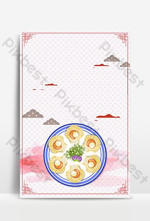 Delicious seafood scallop promotion poster Backgrounds Template PSD