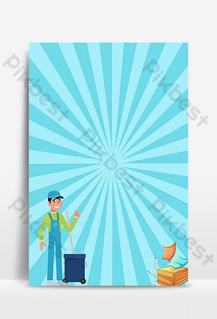 Simple creative housekeeping labor service poster background image Backgrounds Template PSD