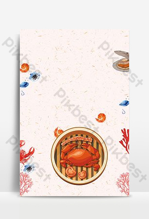 Need seafood buffet promotion PSD Backgrounds Template PSD