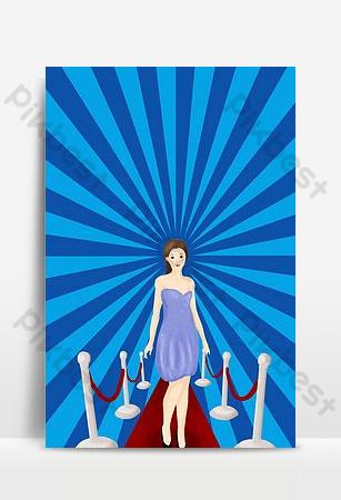 創意奇蹟女人cosplay競賽海報背景模型 背景 模板 PSD